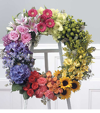 Send European style wreaths and other sympathy fresh flowers for delivery to the funeral home or grave site in Grand Rapids, Rockford, Zeeland, Holland and Byron Center with Sunnyslope Floral