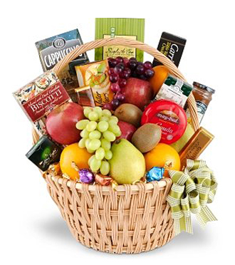 Sunnyslope Floral Fruit Gourmet Delight Gift Basket Grandville MI 49418 FTD Florist Flower And Delivery