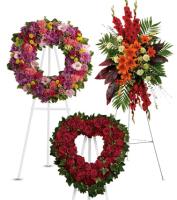 Easel Style Sympathy Flower Sprays & Wreaths