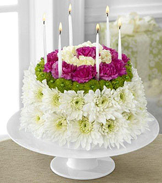 Birthday Wishes Flower Cake
