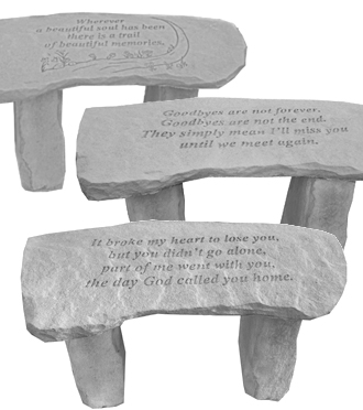 Keepsake Outdoor Memorial Garden Bench for Sympathy