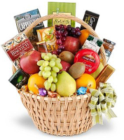 Seasonal  Fruit & Gourmet Gift Basket
