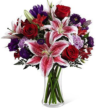 FOREVER YOUR VALENTINE!   Bouquet of Lilies & Roses