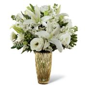 Dinner Date White Lily Bouquet