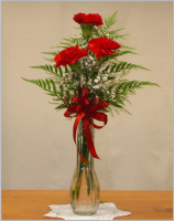 Triple Carnation Bud Vase
