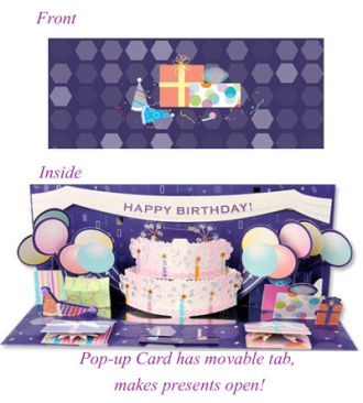 Schnucks Florist And Gifts Birthday Pop Up Card Saint Louis Mo
