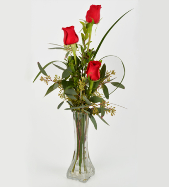 Schnucks Florist And Gifts 3 Rose Bud Vase Saint Louis Mo 63132