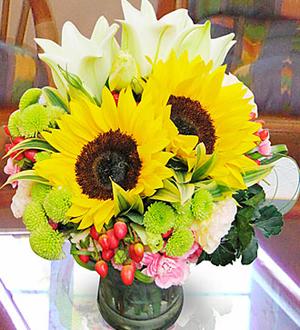 Arrangement in Vase Yellow