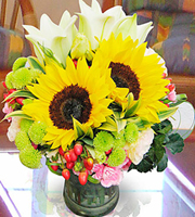 Arrangement in Vase Yellow