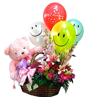 Smile Smile Basket Arrangement