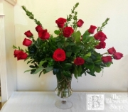 Two Dozen Roses in Elegant Urn