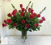 Three Dozen Roses in Elegant Urn