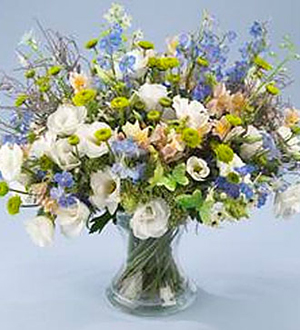 Pastel, Blue and White Bouquet