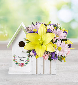 Happiness Blooms Birdhouse