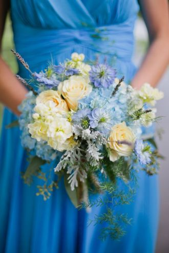 Blue and White Cottage Bouquet
