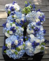 Mixed Garden Flower Bridal Attendants Bouquets