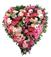 Funeral Heart Arrangement Sweetheart
