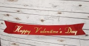 Custom Valentine's Day Script On Ribbon