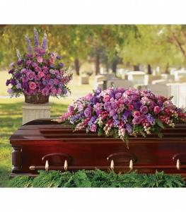Teleflora Lavender Tribute Casket Spray