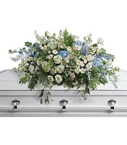 Telefloras Tender Remembrance Casket Spray