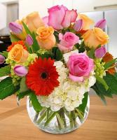 Roses & Gerbera Vase
