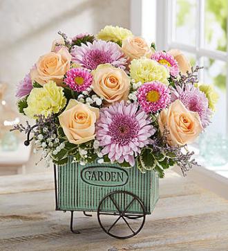 Blooming Garden Cart