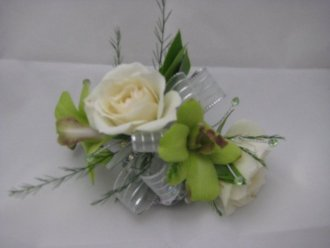 rose and orchid wrist corsage