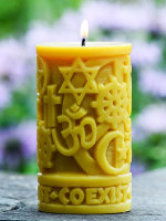 Beeswax Coexist in Peace Pillar