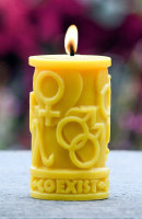 Beeswax Coexist in Love Pillar
