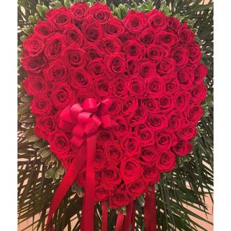 BLEEDING HEART RED ROSES
