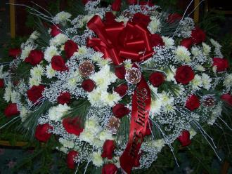 Pequa Red and White Casket Cover