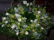 Pequa White and Green Casket Cover