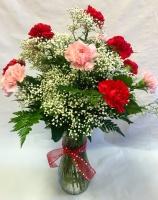 Pequa Valentine's Day Carnations Vase