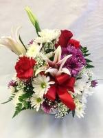 Pequa Valentine's Day Pastels Basket Arrangement