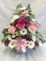 Pequa Valentine's Day Pastels Heart Arrangement