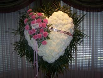 Pequa White and Pink Heart
