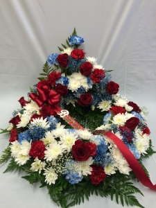 Pequa Park Urn Arrangement Red White Blue