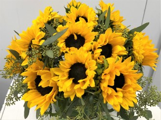 Emil Yedowitz Designed Bouquet of Sunflowers