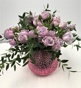 Emil Yedowitz Designed Garden Rose Bouquet (Lavender)