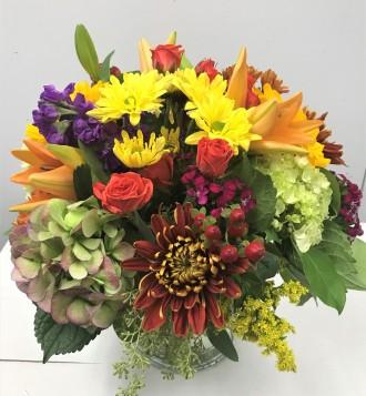 Emil Yedowitz Designed Mixed Fall Bouquet