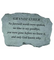 Grandfather - No farewell words... Stone