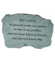 My Love - No farewell words... Stone