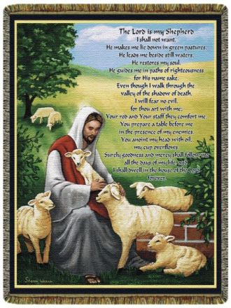 The Lord is My Shepherd Throw