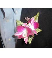 Dedrobium Orchid Boutonniere