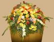 Fall Harvest Casket Spray