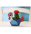 Rooster  Cactus Planter
