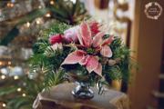 Pink Holiday Centerpiece