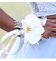 White Phalaenopsis Wrist Corsage