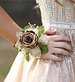 Gold Forever Rose Wrist Corsage
