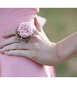 Pink Mini Rose Ring